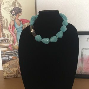 Jewelry - Turquoise and brown necklace